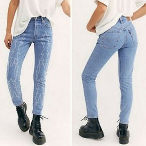 Levi's 501 embroidered del Norte skinny jeans NWT